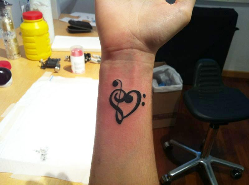 Mi Tattoo Clave De Sol Clave De Fa Love Mi Tatuaje Flickr