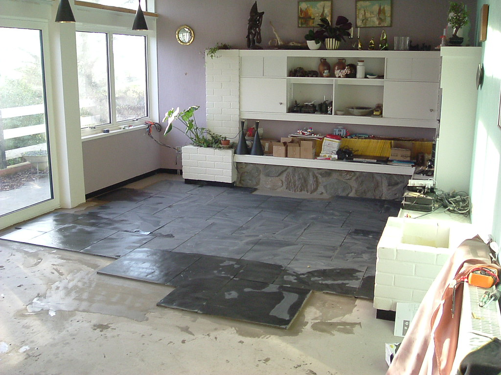 Captivating ... Living Room Slate Floor Installation | By 1953FordF100