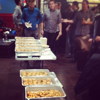 Let's have some #sliders for your #office #party #jacksny #catering for #knewton #nyc #thursday #night #ramen #ramenbar #sushi | by knewton_inc
