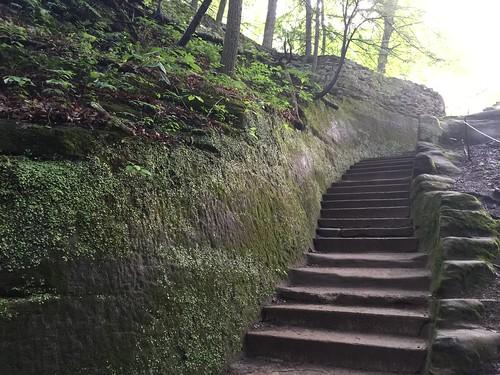 Hocking Hills upper falls of Old Mans cave #upperfalls #