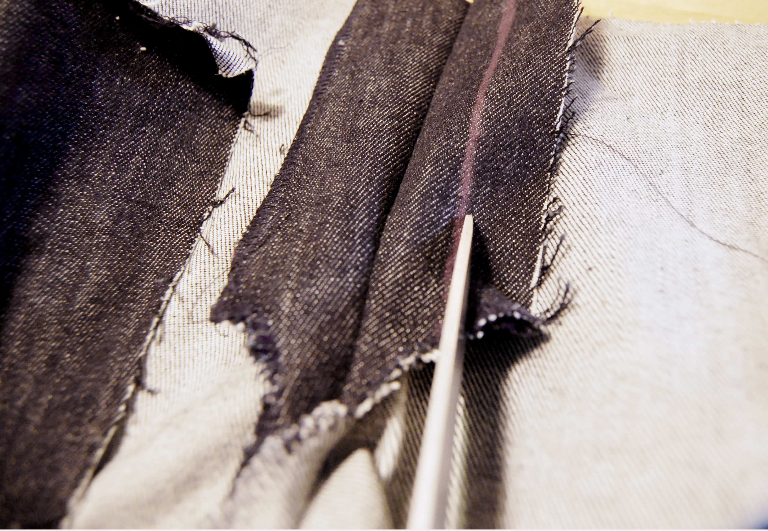 How to make jeans zipper with fly shield