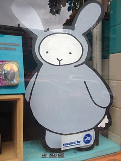 La Ru Bunny in the window of Ugly Baby and La Ru | by rosalie_gale