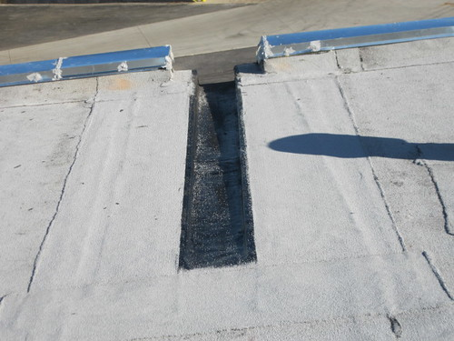 Flat Roof Drainage Channel 6 Quot Of Ponding Water Elminated