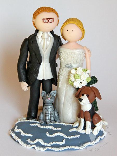Brautpaar Mit Hund Und Katze Tortenfiguren Flickr