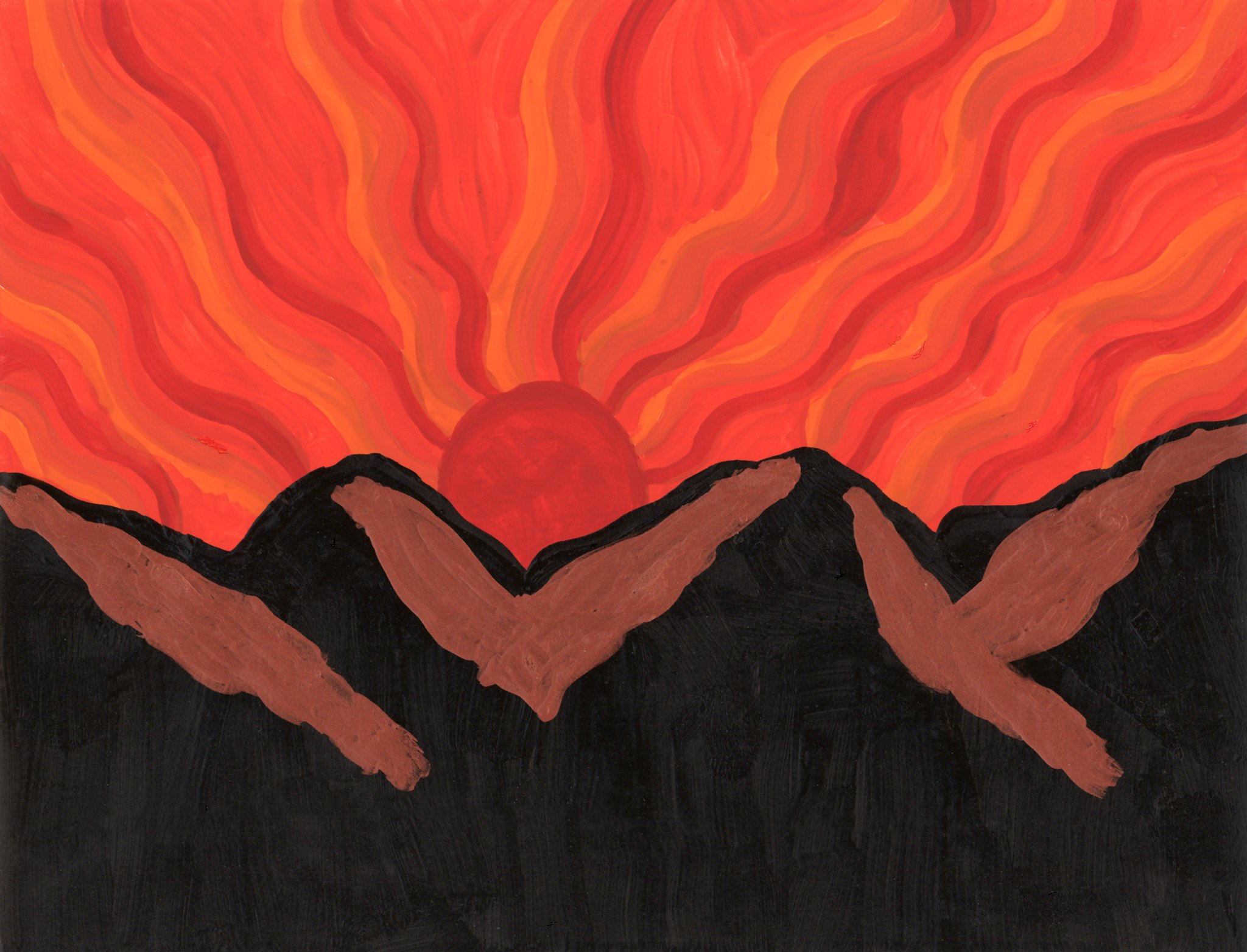 Sunset Mountain  By Sherrie D. Larch
