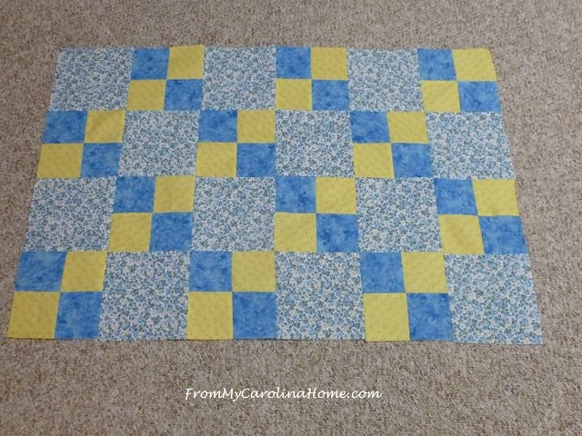 Blue Yellow Charity Quilt ~ From My Carolina Home
