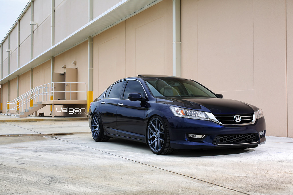 2013 Honda Accord On Velgen Wheels Vmb5 Matte Gunmetal Flickr