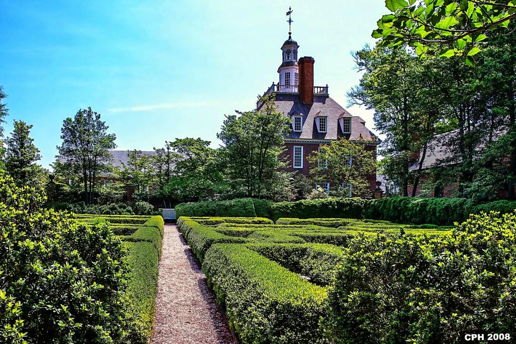 ... 570) Williamsburg VA, Colonial Williamsburg   Governoru0027s Palace   Garden    Maze [304