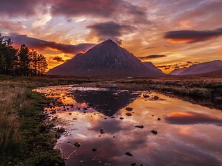 Buachaille Etive Mor at Sunset | by Bathsheba 1