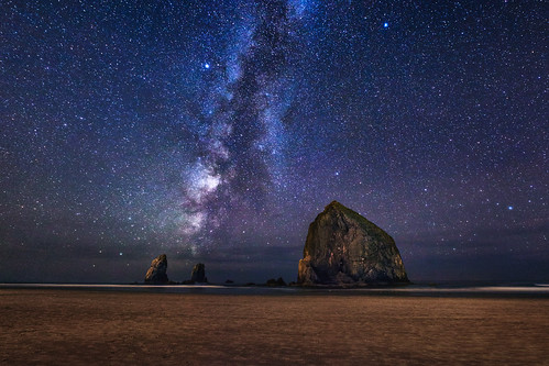 The Milky Way at Cannon Beach Landscape Photography by Michael Matti | by Michael Matti