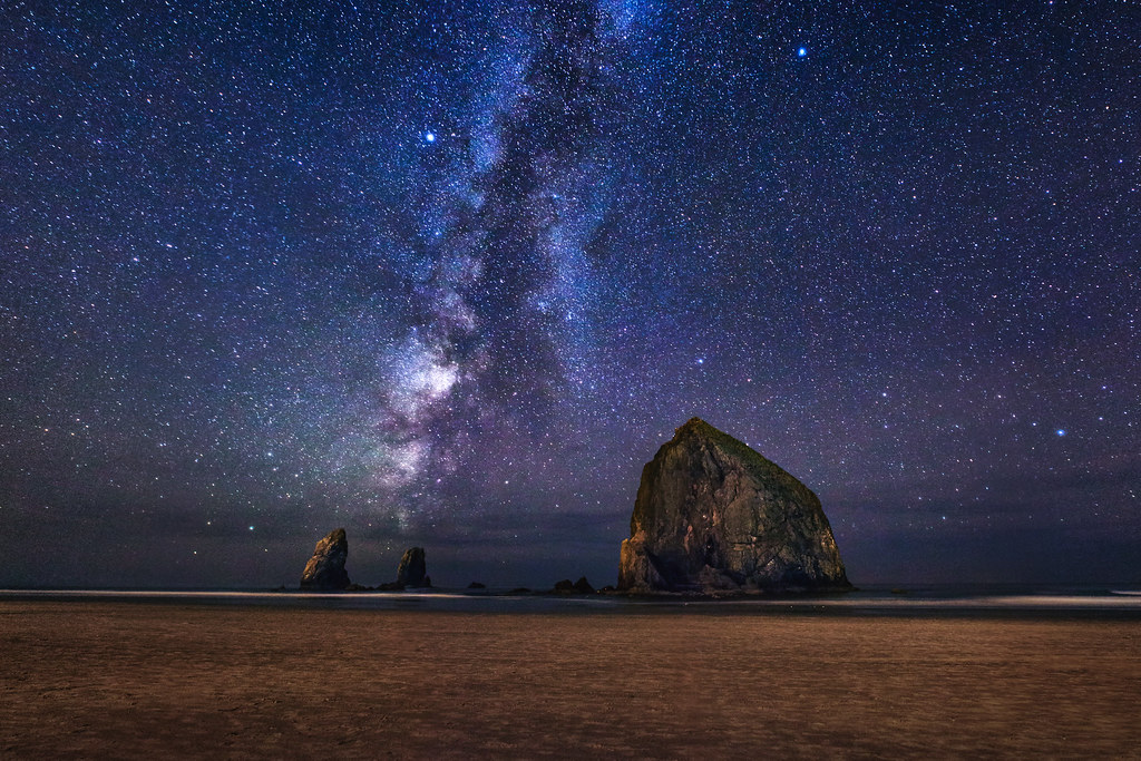 The Milky Way At Cannon Beach Landscape Photography By Michael Matti