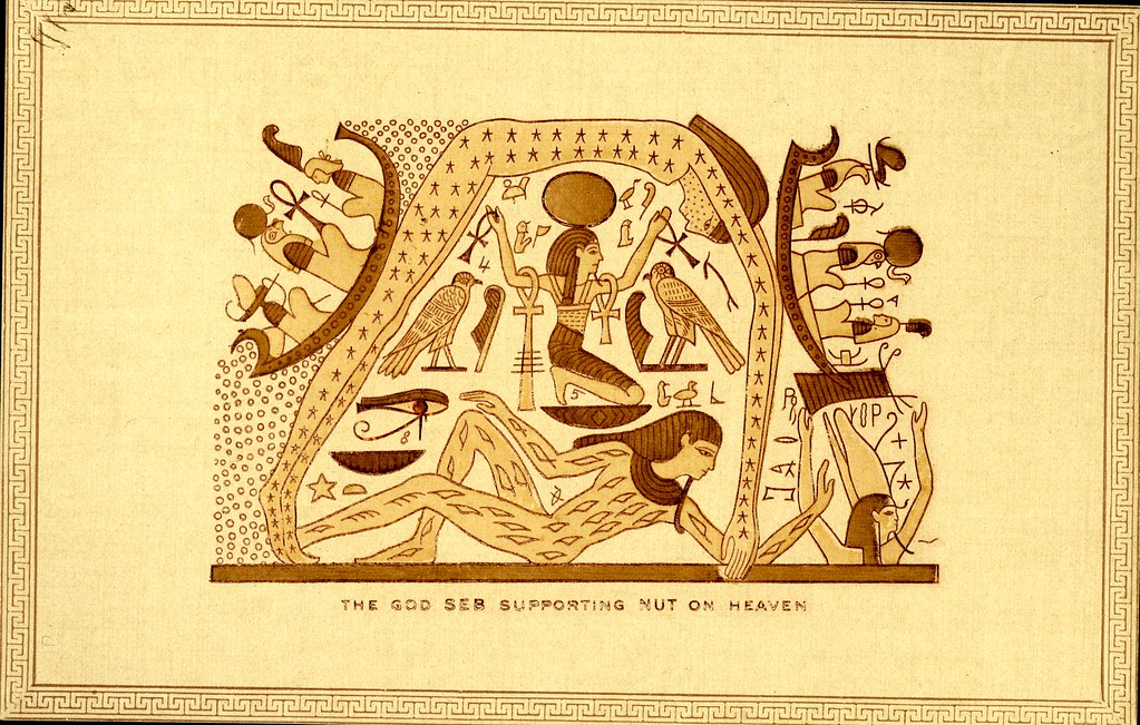 The God Seb Supporting Nut On Heaven In Egyptian Mythology Flickr