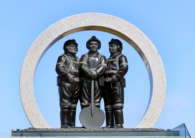A memorial to coalminers in Greymouth, New Zealand unveiled in 2013.