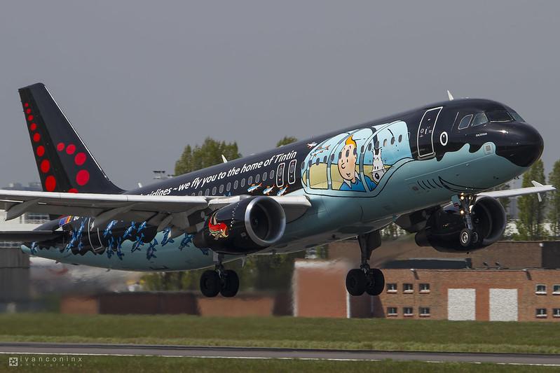 Airbus A320-214 – Brussels Airlines – OO-SNB – Brussels Airport (BRU EBBR) – 2016 05 06 – Takeoff RWY 07R – 01 – Copyright © 2016 Ivan Coninx