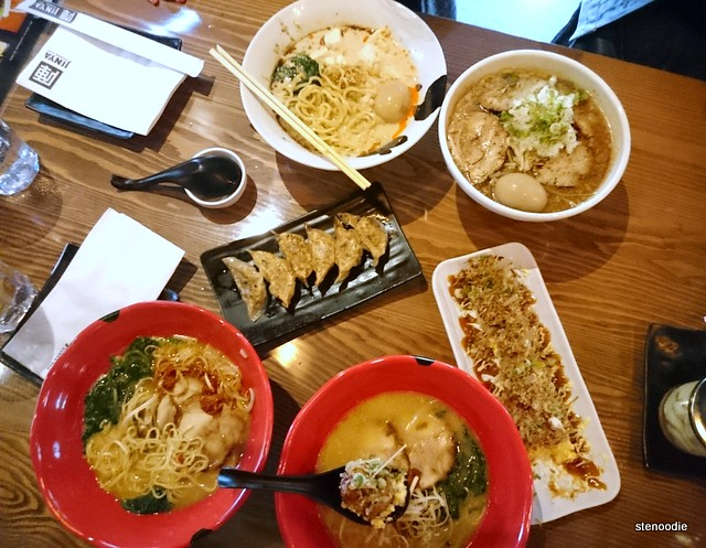 Food at Jinya Ramen Bar