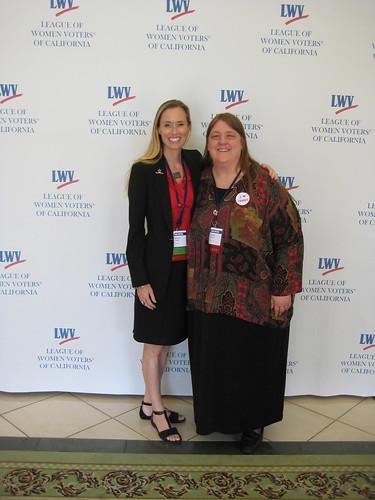 LWVC Communications Manager Elizabeth Leslie and LWVUS Mem