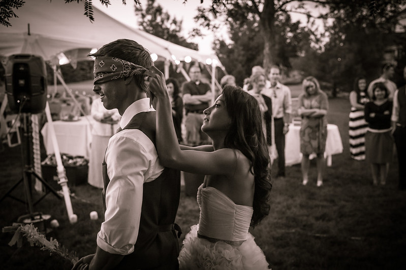Bride Blindfolding Groom