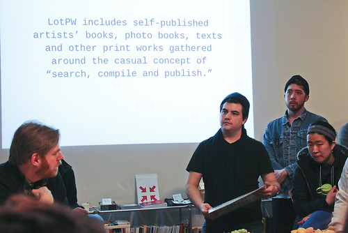 Providence, RI launch of Printed Web #1 at The Design Office | by Paul Soulellis