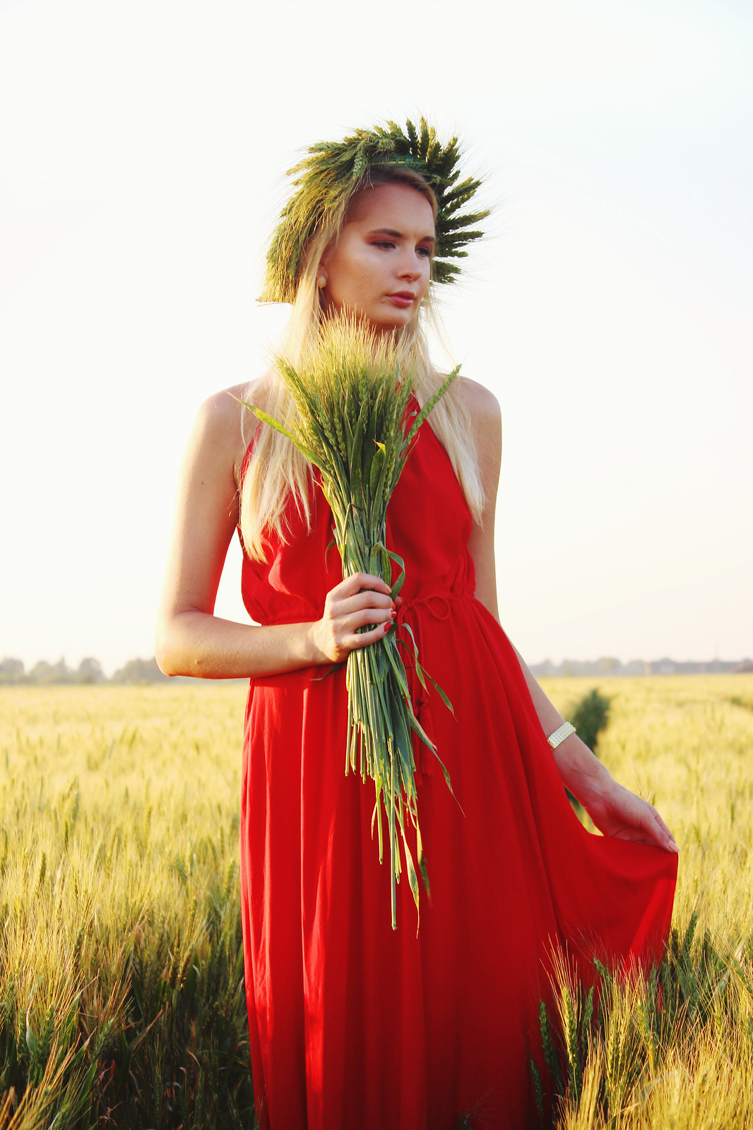 Styling a red maxi dress