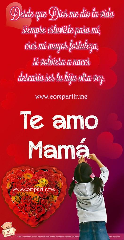 Frases De Amor Bella Tarjeta Con Frase De Una Hija Para S Flickr