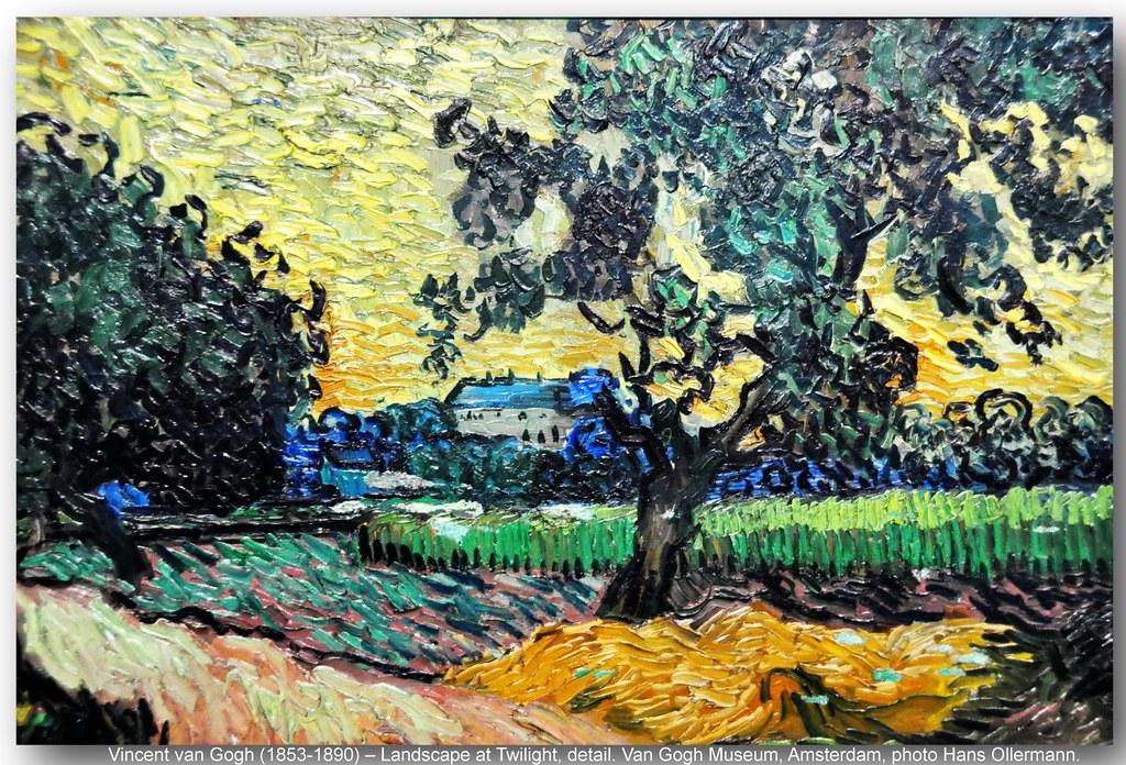 Vincent van Gogh (1853-1890) – Landscape at Twilight, deta… | Flickr