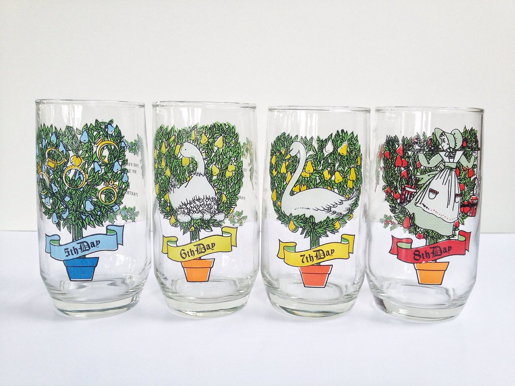 12 days of christmas drinking glasses by maker mama - Christmas Drinking Glasses