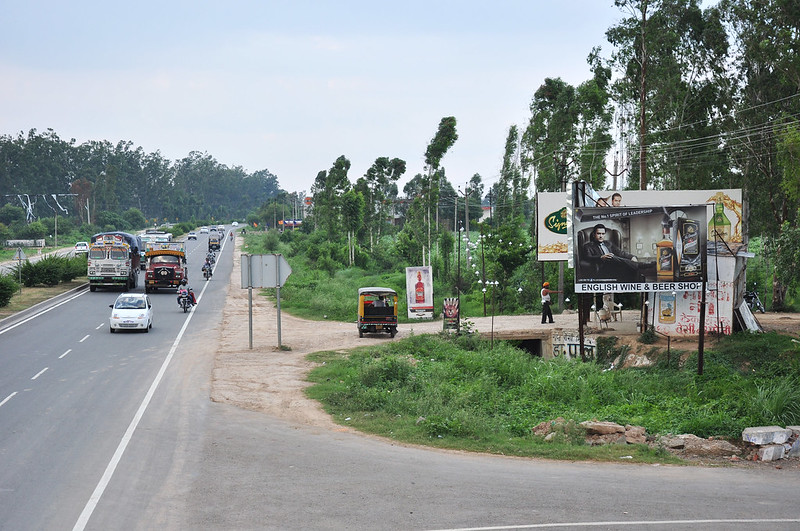 Liquor Shops along National and State Highways in India