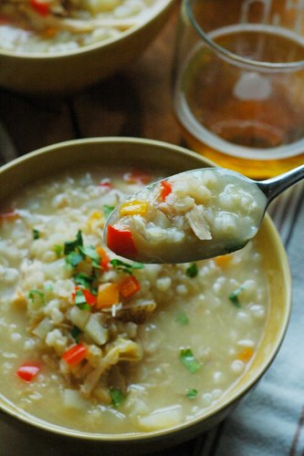 chicken rice soup recipe | by The Adventure Bite