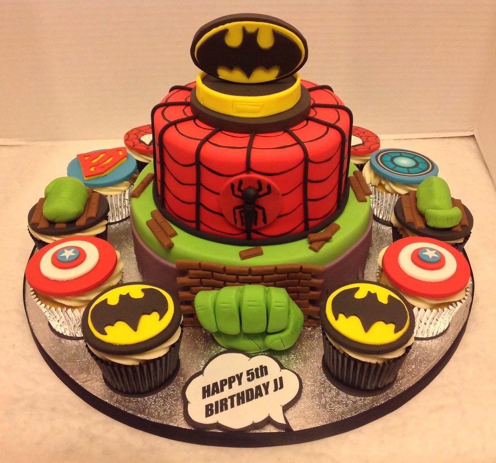 Superhero Birthday Cake Cupcakes Liz Flickr