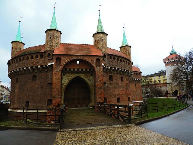 Krakow's Old Town: Barbican, Krakow, Poland