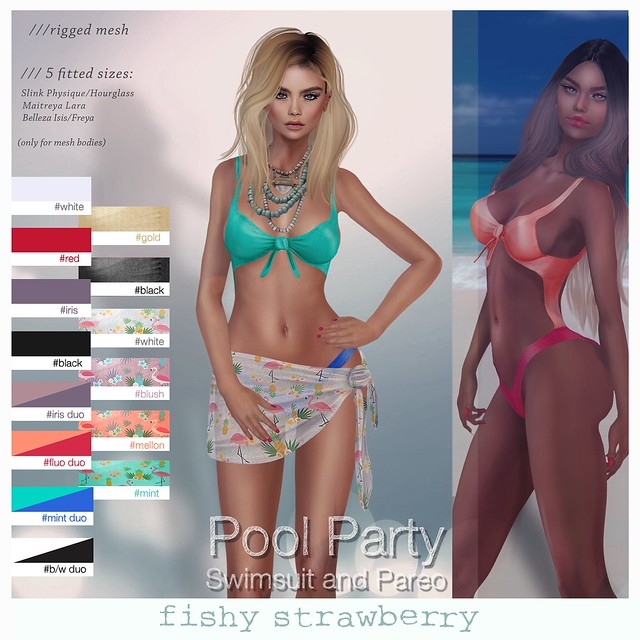 Pool Party Swimsuit and Pareo