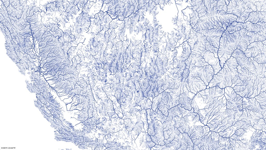 California | Maps of rivers, part of a vector tile project a… | Flickr