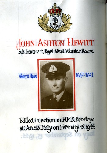 Hewitt, John Ashton (1923-1944) | by sherborneschoolarchives