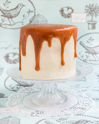 Brown Butter Layer Cake with Vanilla Bean Icing & Salted Caramel | by raspberri cupcakes