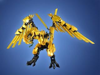 Commission ninjago golden dragon gold is tough to use i d flickr - Ninjago dragon d or ...