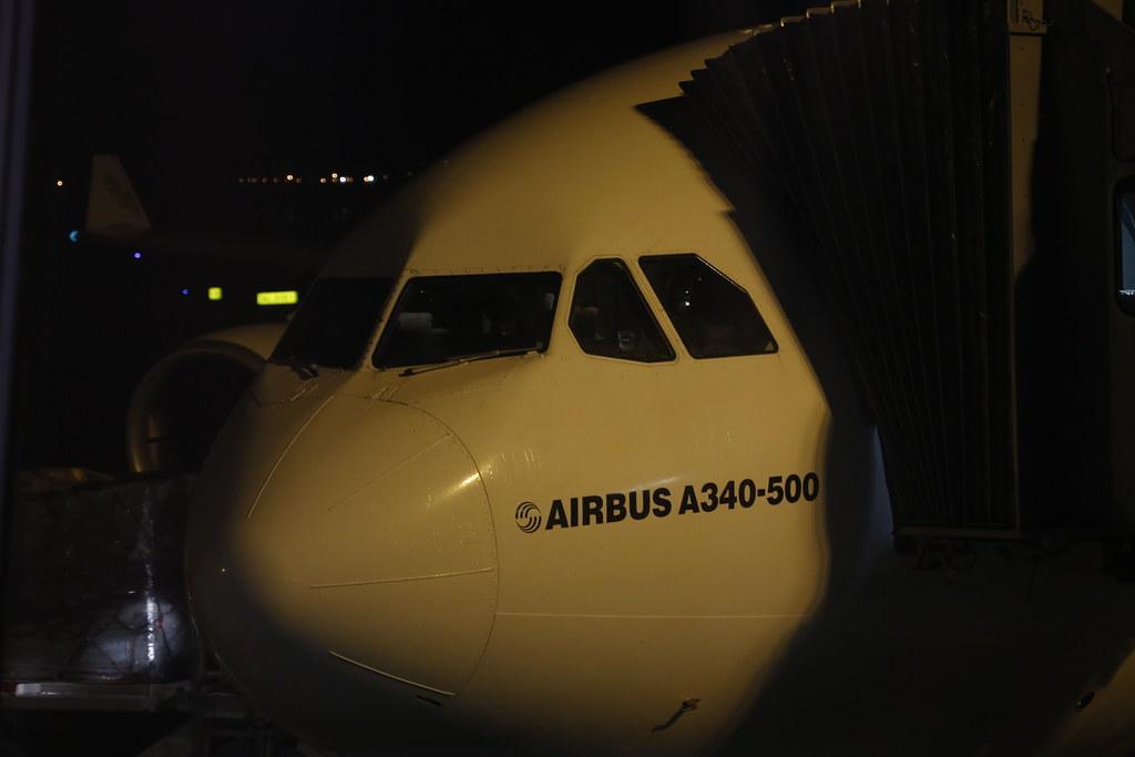 Emirates Airbus A340-500 LYS-DXB