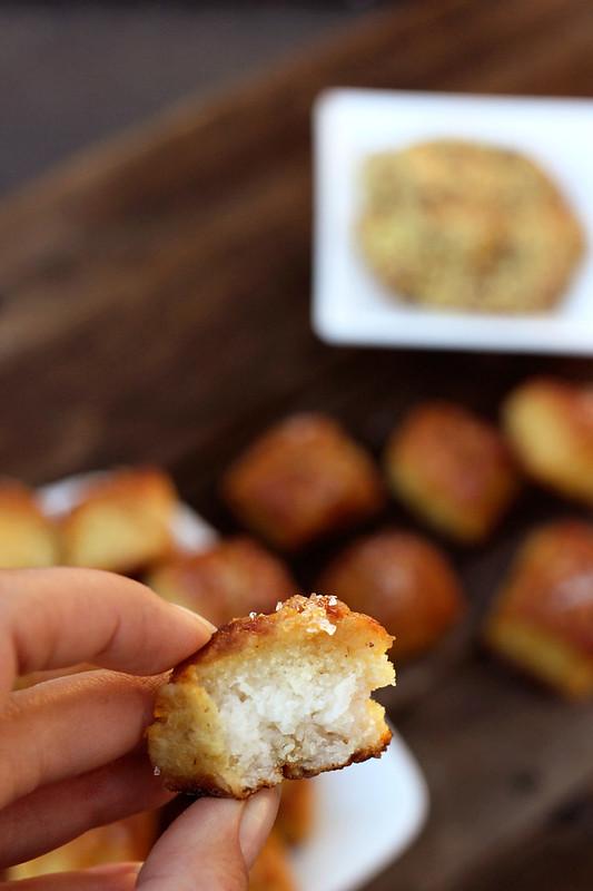 Gluten-free Soft Pretzel Bites (dairy-free with vegan option)