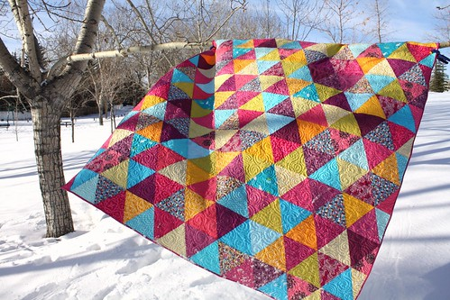Kelsey's Mermaid Triangle Quilt | by Everyday Fray