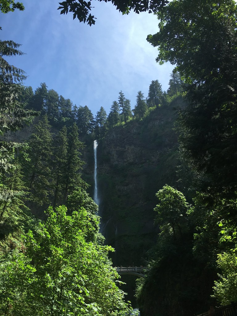 The iconic Multnomah Falls, just outside Portland, Oregon
