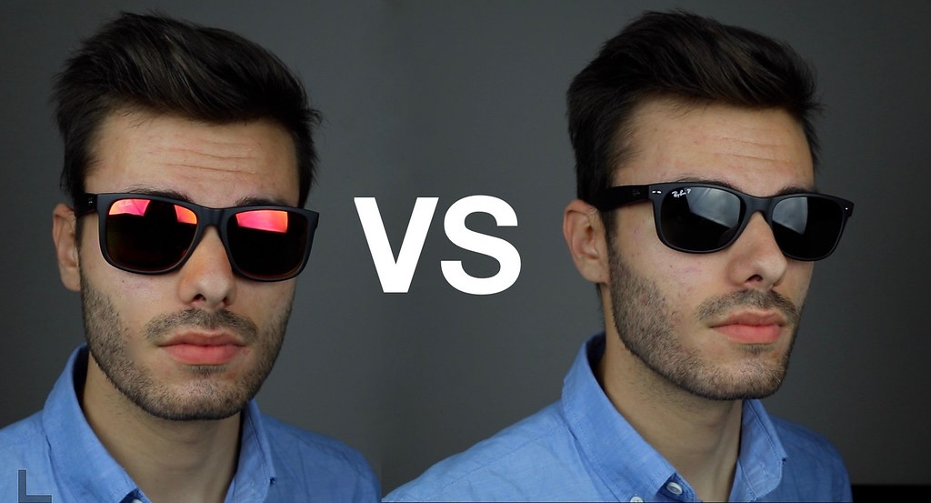 ray ban wayfarer on face  ray ban justin vs new wayfarer on face