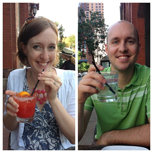 Pre-dinner drinks! Welcome to your 30s, husband | by erin.kkr