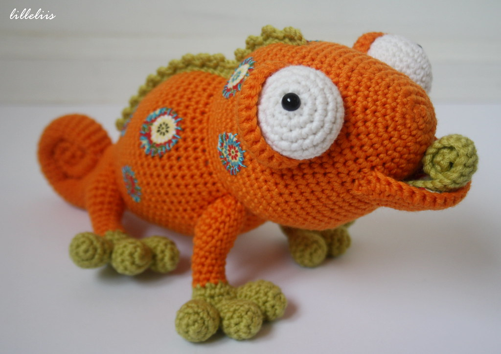 Amigurumi Chameleon With Fabric Patches Designs By Mari Liis Lille