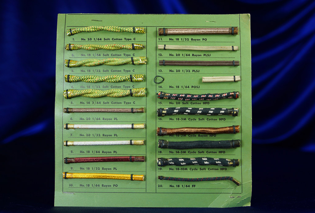 Asbestos Electrical Wire Sample Display 1 | Some with asbest… | Flickr