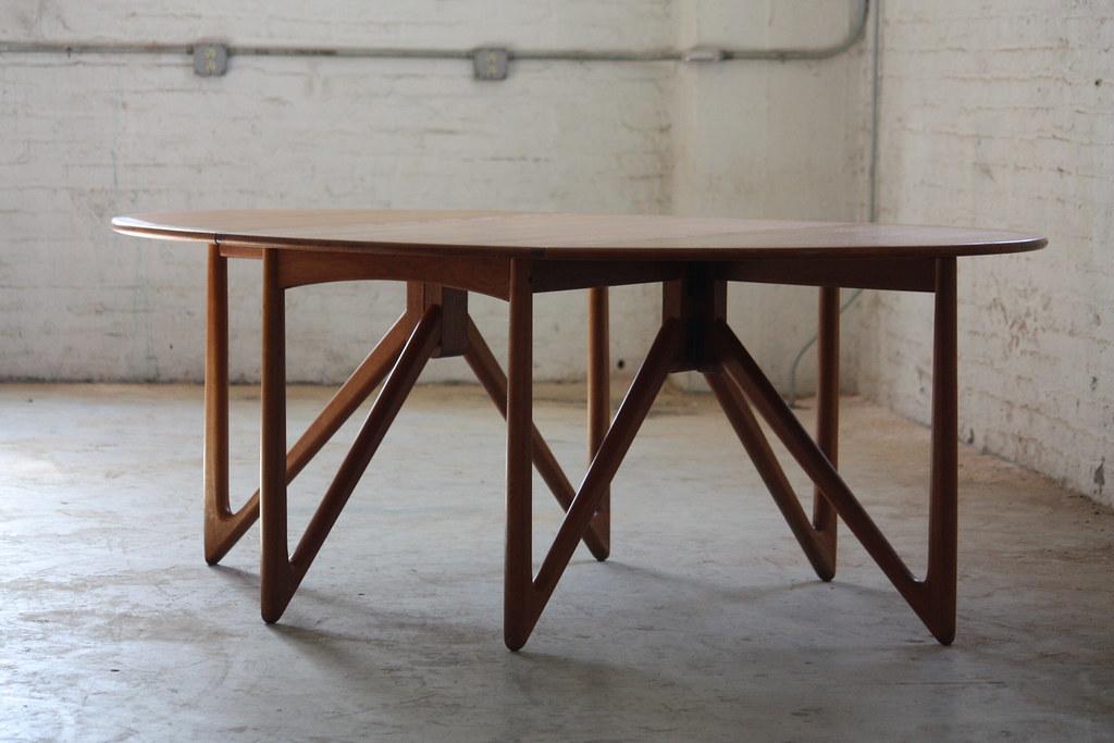 Sensational Kurt Ostervig Danish Mid Century Modern Drop L Flickr - Mid century modern dining table with leaf