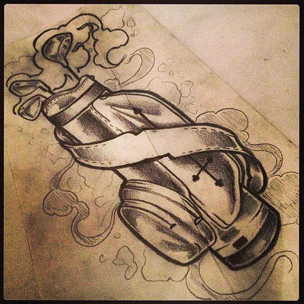 Golf Tattoo Drawing Ideas : Golf