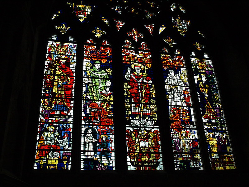 Stained Glass In Canterbury Cathedral Finally A Photo Of A