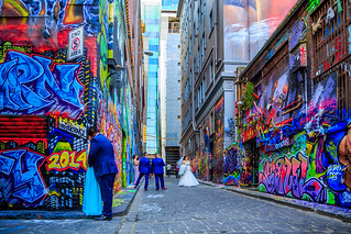 Weddings Hosier Lane, Melbourne | by ltphotographystudio