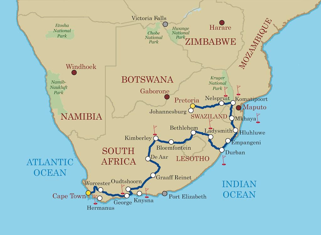 Shongololo Express Good Hope Map | PRETORIA TO SWAKOPMUND – … | Flickr