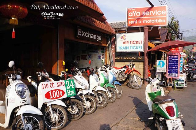 Thailand - Pai Rent A Motorbike