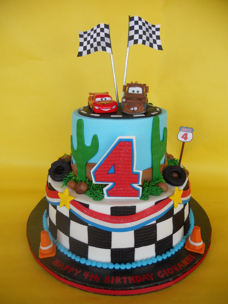 Disney Cars 4th Birthday Cake Amy Stella Flickr